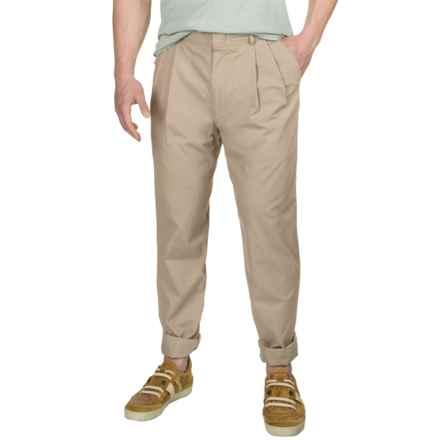 Poplin Pants - Pleated Front (For Men) in Field Khaki - 2nds