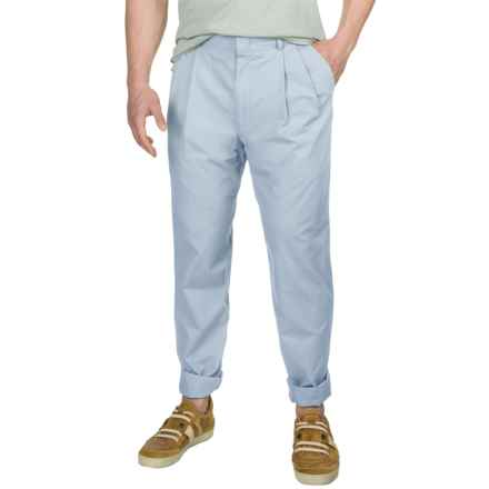 Poplin Pants - Pleated Front (For Men) in Pale Blue - 2nds