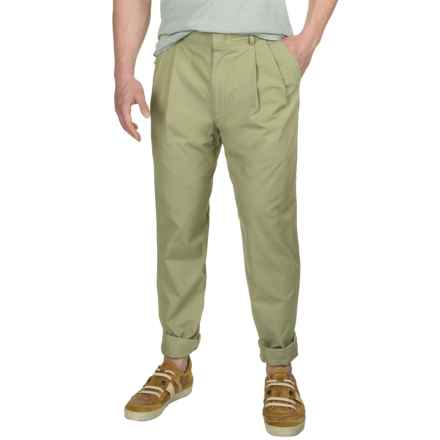 Poplin Pants - Pleated Front (For Men) in Soft Olive - 2nds