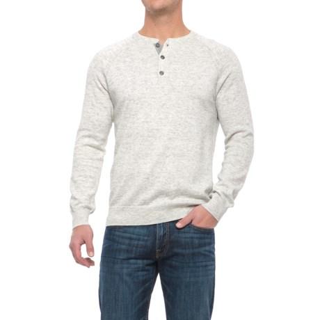 Porter & Ash Porter Ash Space-Dye Henley Shirt - Cotton, Long Sleeve (For Men) in Cream Space Dye