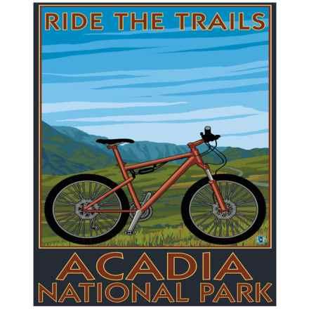 "Portfolio Arts Group Acadia National Park Bike Print- 16x20"" in See Photo - Closeouts"
