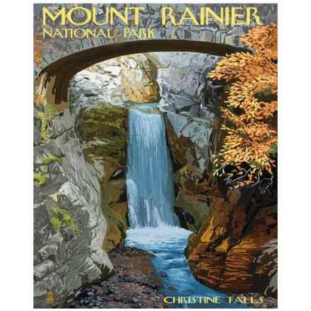 "Portfolio Arts Group Mount Rainier Christine Falls Print - 16x20"" in See Photo - Closeouts"