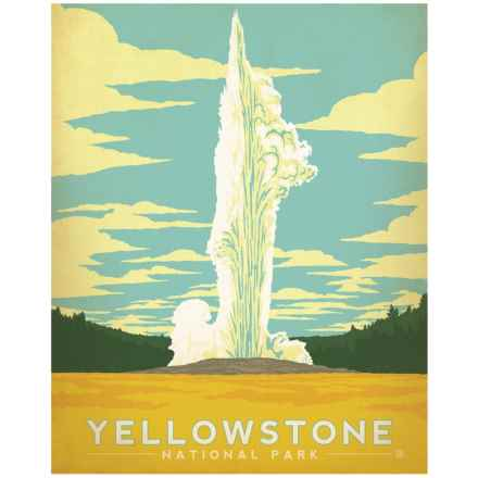 "Portfolio Arts Group Yellowstone National Park Old Faithful Print - 16x20"" in See Photo - Closeouts"
