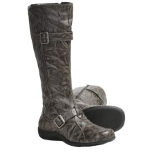 Portlandia Adventure Tall Boots - Leather (For Women) in Grey Vintage - Closeouts