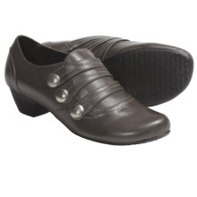 Portlandia Calistoga Shoes - Leather, Slip-Ons (For Women) in Grey Burnished - Closeouts