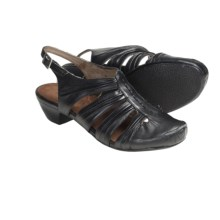 Portlandia Florence Sling-Back Sandals - Leather (For Women) in Black - Closeouts