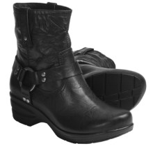 Portlandia Freedom Harness Boots - Leather (For Women) in Black Vintage - Closeouts