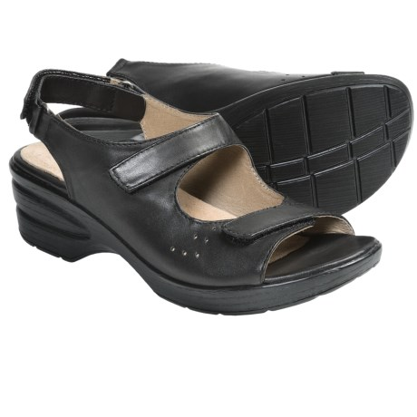 Portlandia Hillsdale Sandals - Leather (For Women) in Black