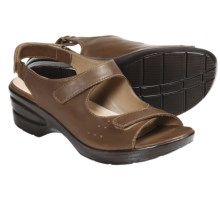 Portlandia Hillsdale Sandals - Leather (For Women) in Tan - Closeouts