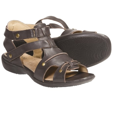 Portlandia Imagine Gladiator Sandals - Leather (For Women) in Chocolate