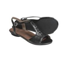 Portlandia Manzanita T-Strap Sandals - Leather (For Women) in Black - Closeouts