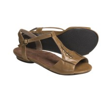 Portlandia Manzanita T-Strap Sandals - Leather (For Women) in Tan - Closeouts