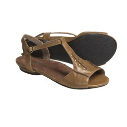 Portlandia Manzanita T-Strap Sandals - Leather (For Women) in Tan