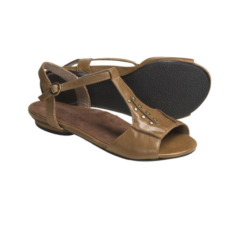 Portlandia Manzanita T-Strap Sandals - Leather (For Women) in Black