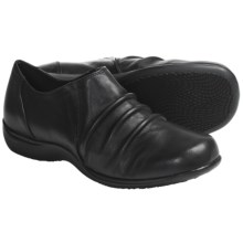 Portlandia Travel Shoes - Leather, Slip-Ons (For Women) in Black Burnished - Closeouts