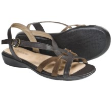 Portlandia Tuscany Sandals - Leather (For Women) in Chocolate Multi - Closeouts