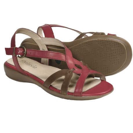 Portlandia Tuscany Sandals - Leather (For Women) in Red Multi