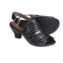 Portlandia Verona Sling-Back Sandals - Leather (For Women) in Black - Closeouts