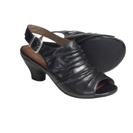 Portlandia Verona Sling-Back Sandals - Leather (For Women) in Black