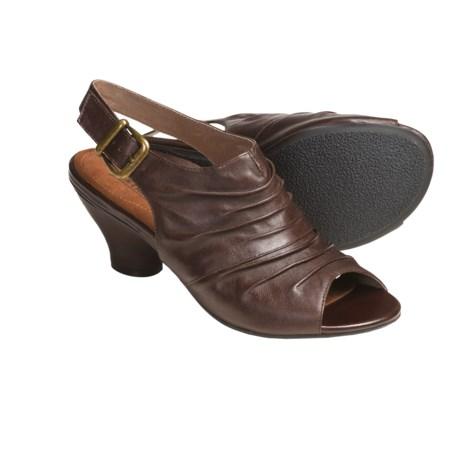 Portlandia Verona Sling-Back Sandals - Leather (For Women) in Light Grey