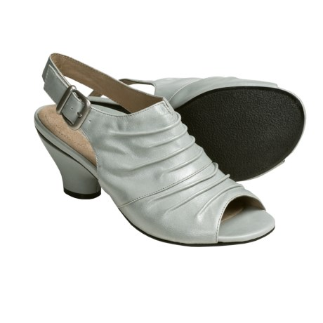 Portlandia Verona Sling-Back Sandals - Leather (For Women) in Light Grey