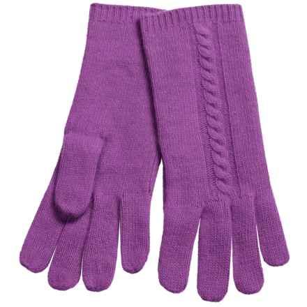 """Portolano 10"""" Cashmere Gloves - Cable-Knit Detail (For Women) in Bora Bora - Closeouts"""