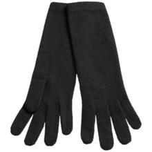 """Portolano 13"""" Cashmere Gloves (For Women) in Black - Closeouts"""