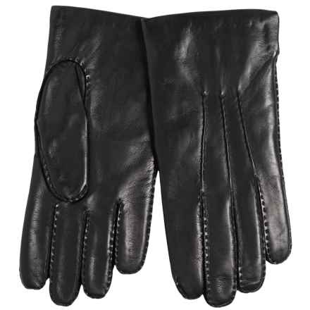 Portolano Cadet Nappa Leather Gloves - Cashmere Lined, Handsewn (For Men) in Black - Closeouts