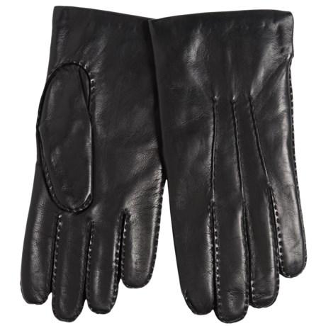 Portolano Cadet Nappa Leather Gloves - Cashmere Lined, Handsewn (For Men) in Black