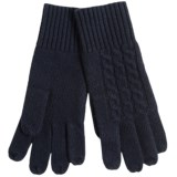 Portolano Cashmere-Blend Jersey Knit Gloves - Rib Cuff (For Men)
