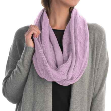 Portolano Cashmere Cable-Knit Infinity Scarf (For Women) in Lilac - Closeouts