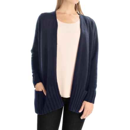 Portolano Cashmere Cardigan Sweater (For Women) in Dark Blue - Closeouts