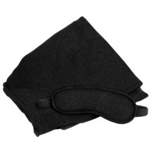 Portolano Cashmere Eye Mask and Wrap Gift Set in Charcoal & Black Mask / Black Wrap - Overstock
