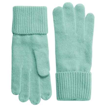 Portolano Cashmere Gloves (For Women) in Aquamarine - Closeouts