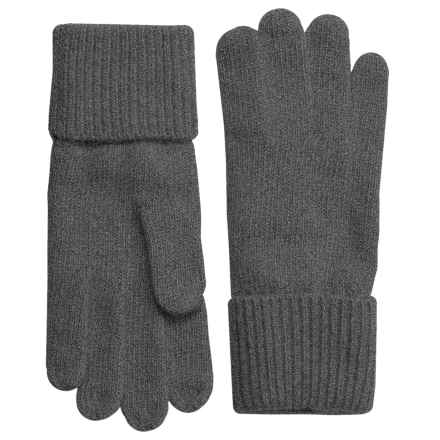 Portolano Cashmere Gloves (For Women) in Heather Charcoal - Closeouts