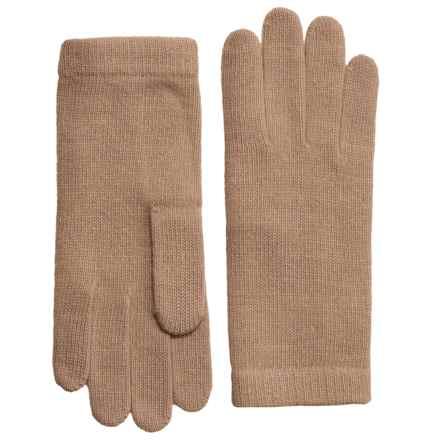 Portolano Cashmere Gloves (For Women) in Light Camel - Closeouts