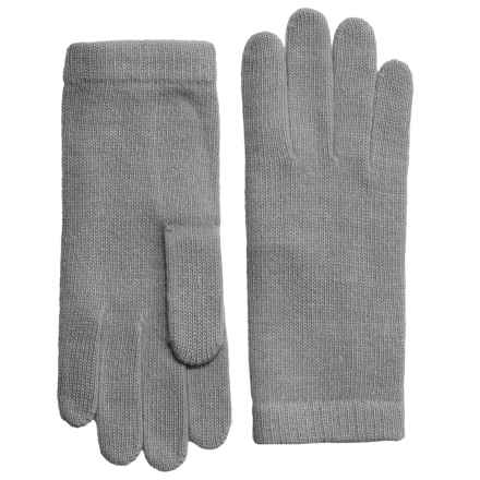 Portolano Cashmere Gloves (For Women) in Light Heather Grey - Closeouts