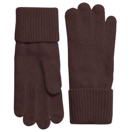 Portolano Cashmere Gloves (For Women) in Maro Glace - Closeouts