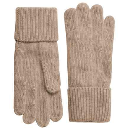 Portolano Cashmere Gloves (For Women) in Nile Brown - Closeouts