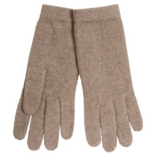 Portolano Cashmere Jersey Gloves with Tech Fingertips (For Women) in Nile Brown/#11 - Closeouts