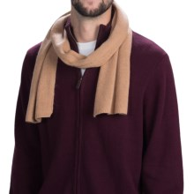 Portolano Cashmere Scarf (For Men and Women) in Light Camel - Closeouts