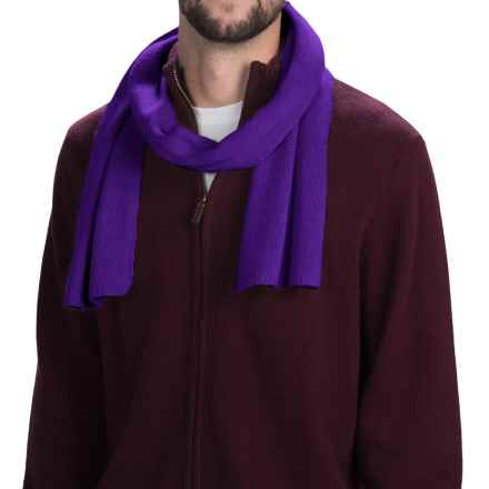 Portolano Cashmere Scarf (For Men and Women) in Royal Lilac - Closeouts