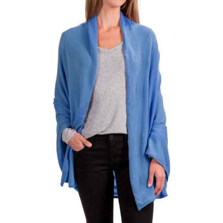 Portolano Cashmere Shawl (For Women) in Blue Bell - Closeouts