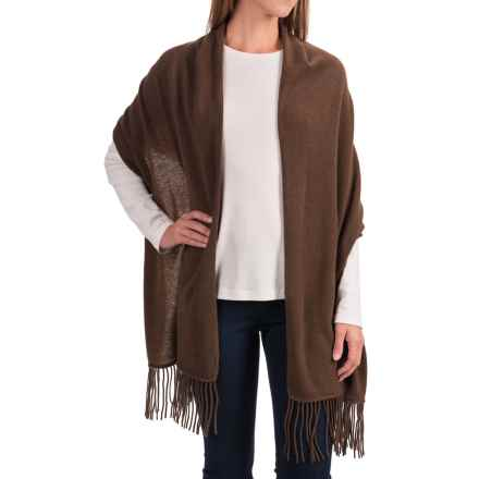 "Portolano Cashmere Wrap Scarf - 22x80"" (For Women) in Maro Glace - Closeouts"