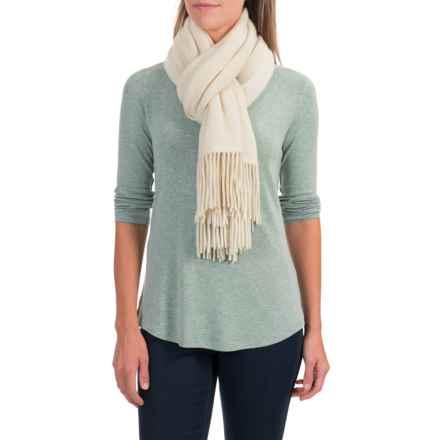 """Portolano Cashmere Wrap Scarf - 22x80"""" (For Women) in Natural White - Closeouts"""