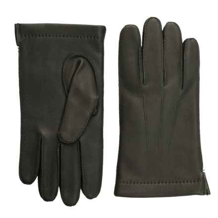 Portolano CL Deerskin Gloves - Cashmere Lined (For Men) in Dark Green - Closeouts