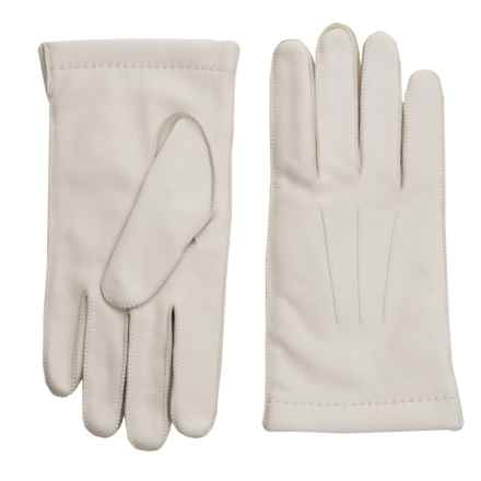 Portolano CL Deerskin Gloves - Cashmere Lined (For Men) in Oyster - Closeouts