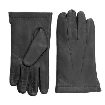 Portolano CL Deerskin Gloves - Cashmere Lined (For Men) in Shale - Closeouts
