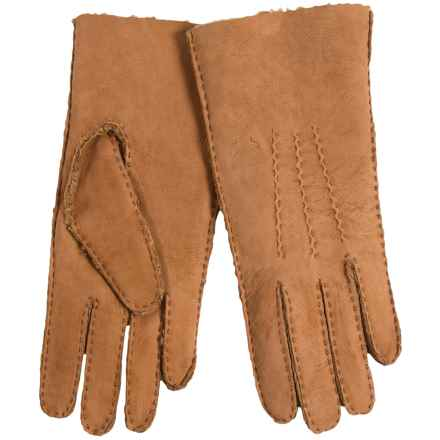 Portolano Handsewn Curly Shearling Gloves (For Women) in Tan - Closeouts