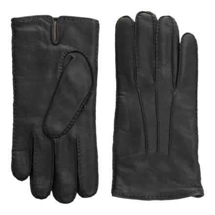 Portolano Handsewn Deerskin Gloves - Cashmere Lined (For Men) in Midnight Navy - Closeouts
